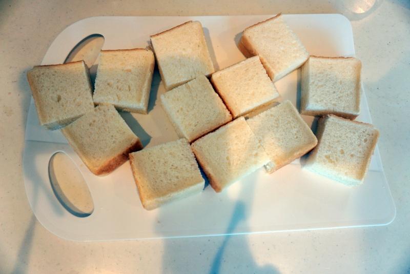 パンをカット